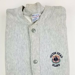 Champion Reverse Weave Cardigan Sweater Size Large